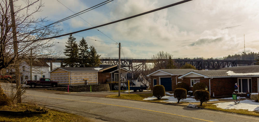 Trestle Over Houses