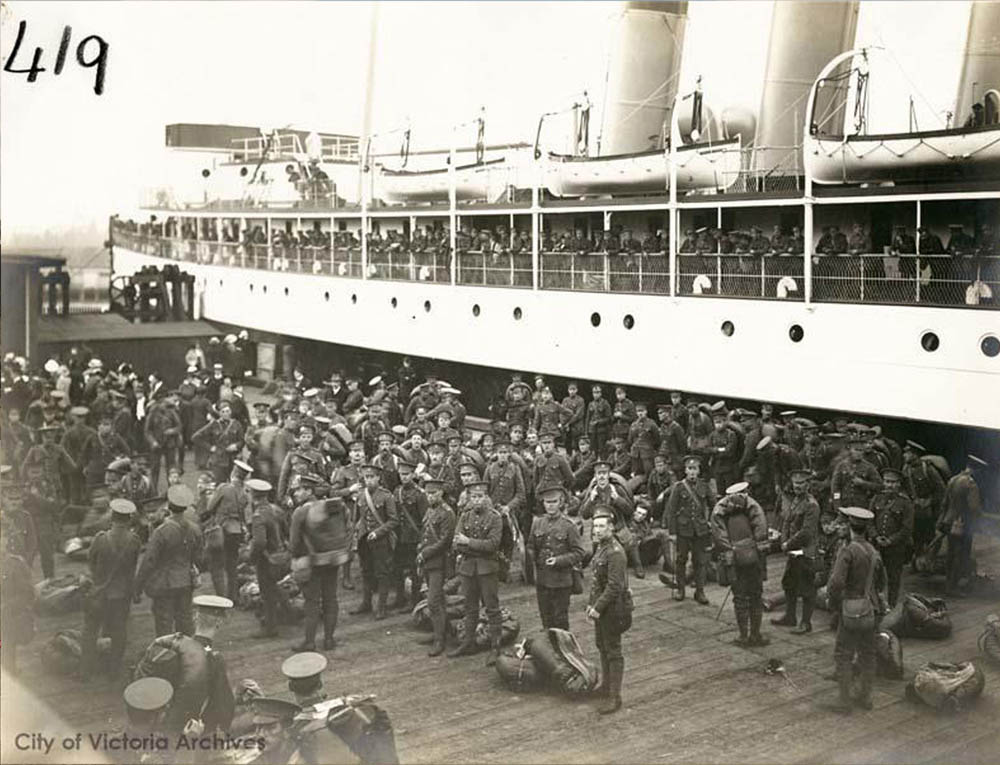 Departure of the 48th Battalion